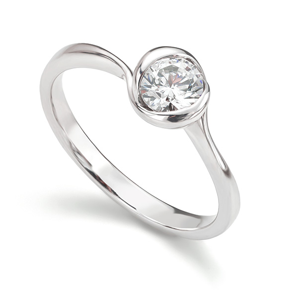 Rosebud engagement ring one of our most popular items of rosebud jewellery