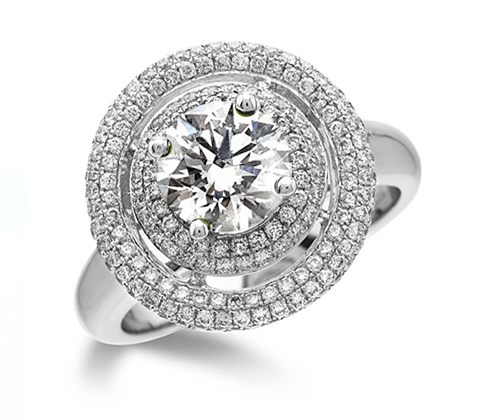 Natalie Portmans double halo engagement ring