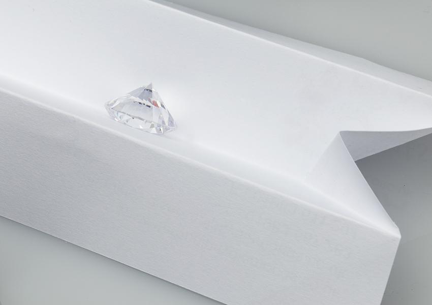 Colour grading a colourless diamond