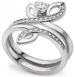 Laurel Precious Platinum Engagement Ring Set