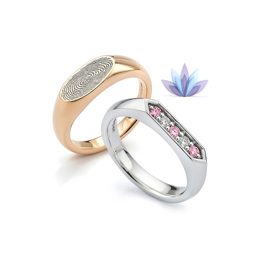 Promise styled signet rings perfect for a commitment ring with elegant detail