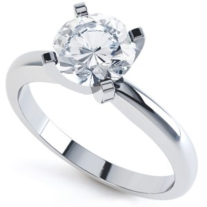 The Classic Modern Round Solitaire Engagement Ring