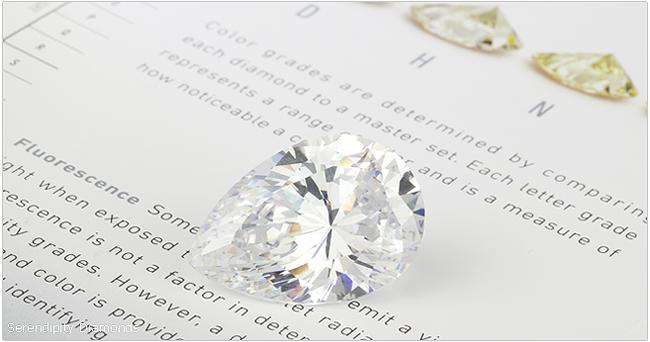 Diamond Simulant Pear Shape
