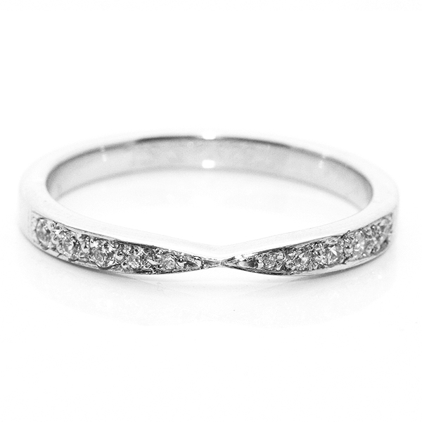 The Bowtie Shaped Wedding Ring with Diamond Accents