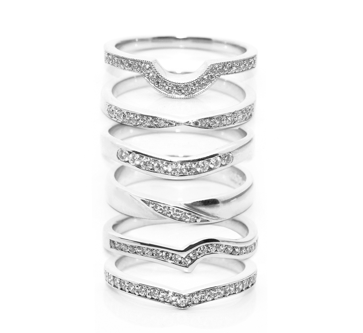 fitting inspiration for shaped wedding rings With shaped wedding rings