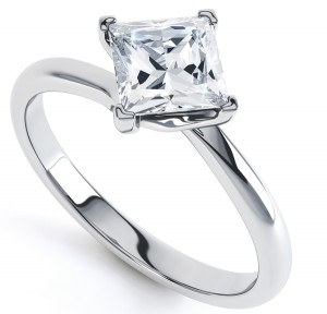 Princess Twist Engagement Ring
