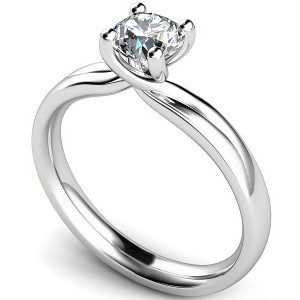 The Split Twist Engagement Ring
