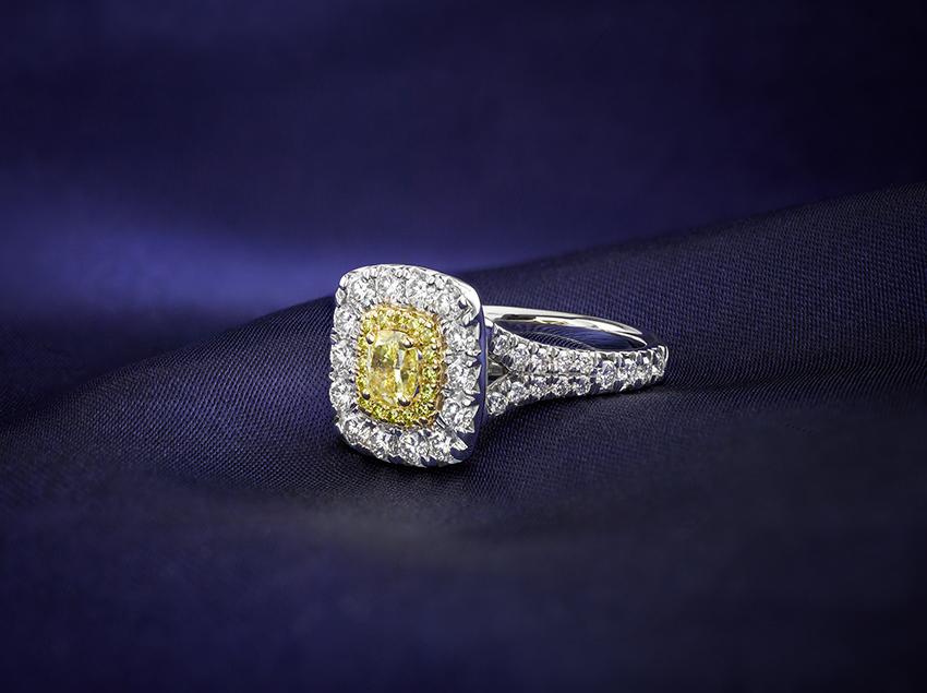 Yellow diamond ring - yellow diamond engagement rings