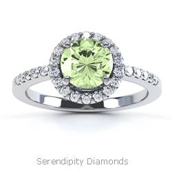 Green Diamond Rings