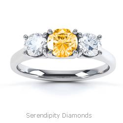 Orange Diamond Rings