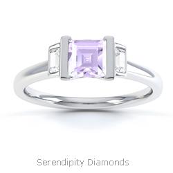 Violet Coloured Diamond Rings