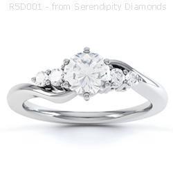 Five Stone Twist Ring