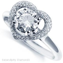 Pavé Diamond Set Halo Ring
