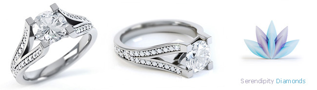 Split Shoulder Diamond Rings