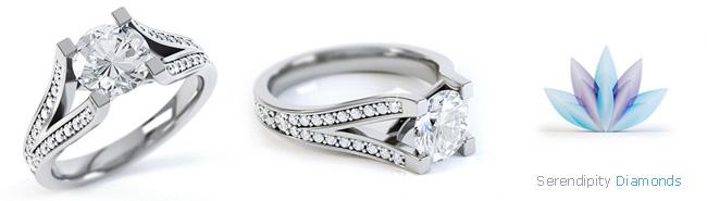 Split Shoulder Diamond Rings
