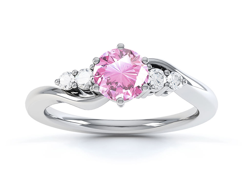 Tickled Pink Engagement Ring