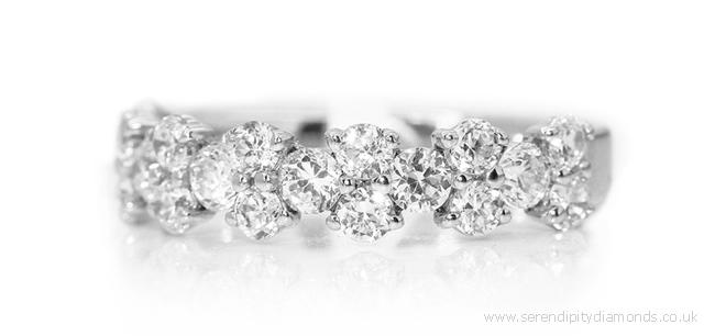 Unique diamond wedding ring