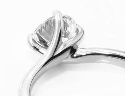 Wrap around engagement ring