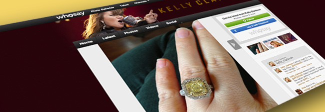 Kelly Clarkson Tweets Canary Engagement ring