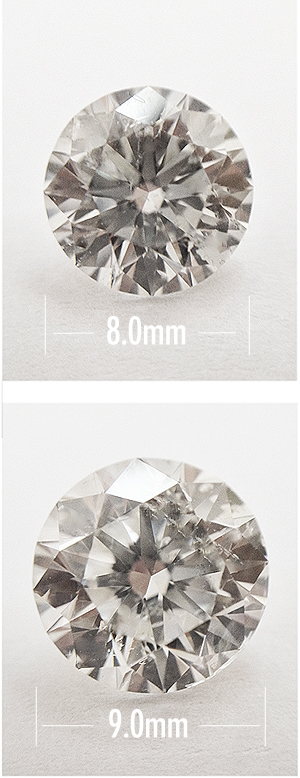Size Differences Between 2 Carat And 3 Carat Diamonds