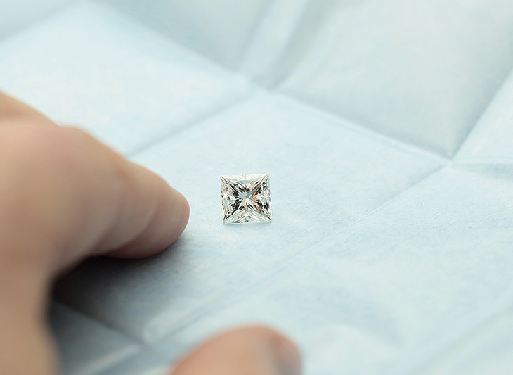 3 carat Princess cut diamond