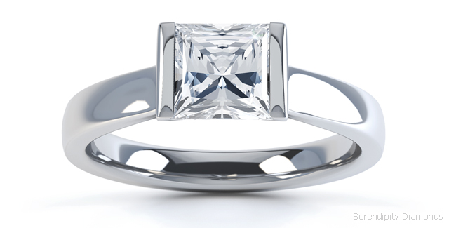 Engagement ring designs with parallel shoulders