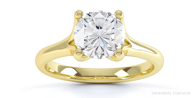 engagement rings with split shoulders