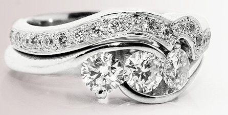 shaped wedding ring - Wedding And Engagement Rings