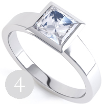 engagement blue product ring white modern carat rings princess p sapphire gold