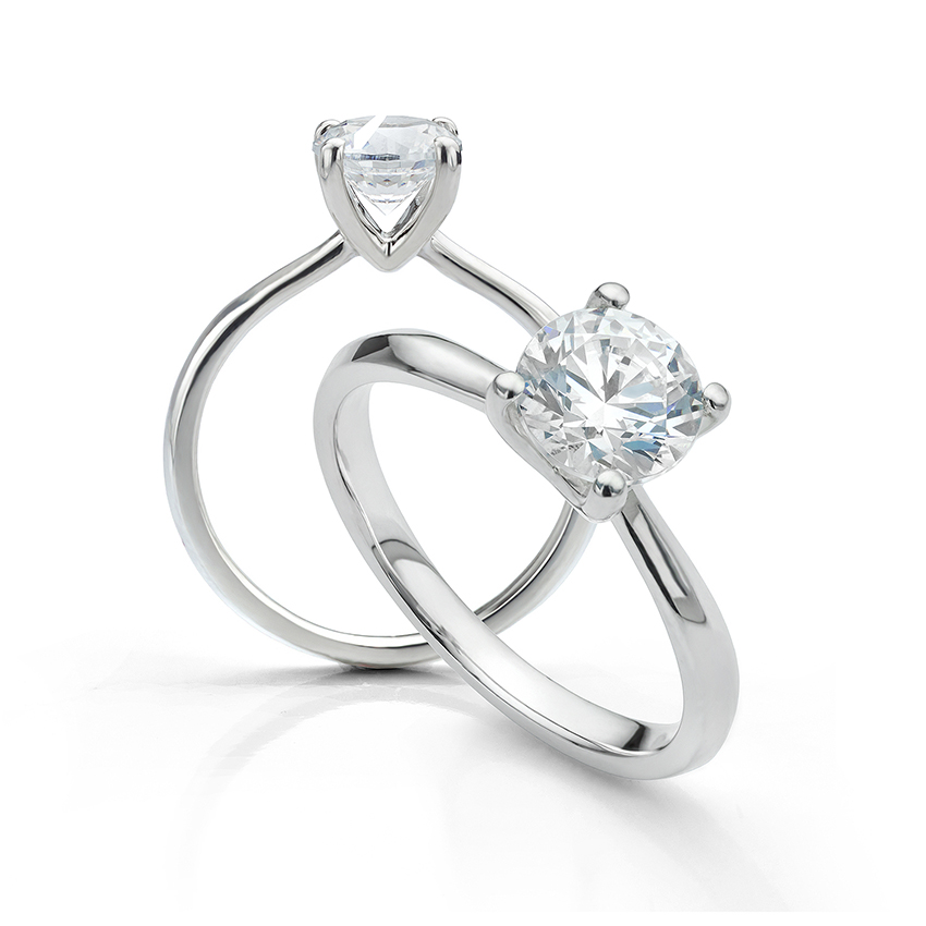 Adeline 4 claw engagement ring