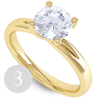 Modern double shoulder twist engagement ring