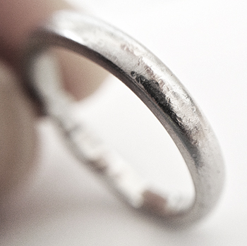 Does Platinum Scratch - Before shot, showing wear on the Platinum ring