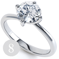 New classic 4 claw twist engagement ring