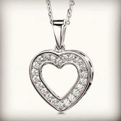 most romantic diamond heart pendant