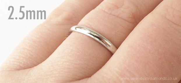 Wedding Rings Popular Widths Shown on the Finger