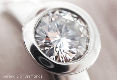 Rub over setting for round brilliant engagement ring (R1D070)
