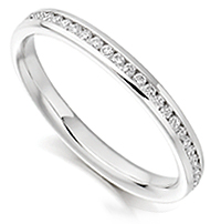 0.50 carat half eternity ring set with round brilliant cut diamonds