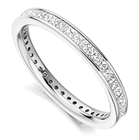 1 Carat Princess Cut Full Eternity Ring