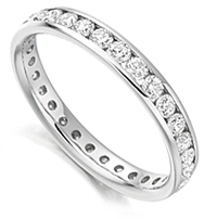 One of our full eternity rings set with 1 carat of round diamonds in channel setting
