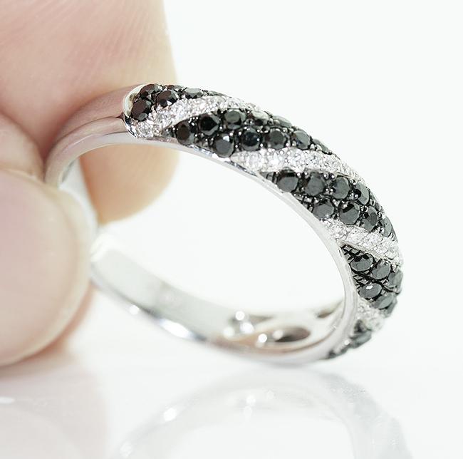 Anillos de bodas de diamante negro
