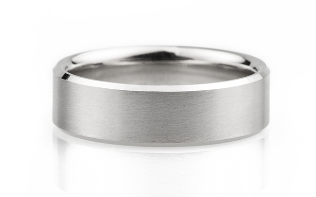 Wayne County Public Library palladium matte mens wedding bands