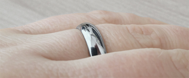 D shape wedding ring with comfort fit
