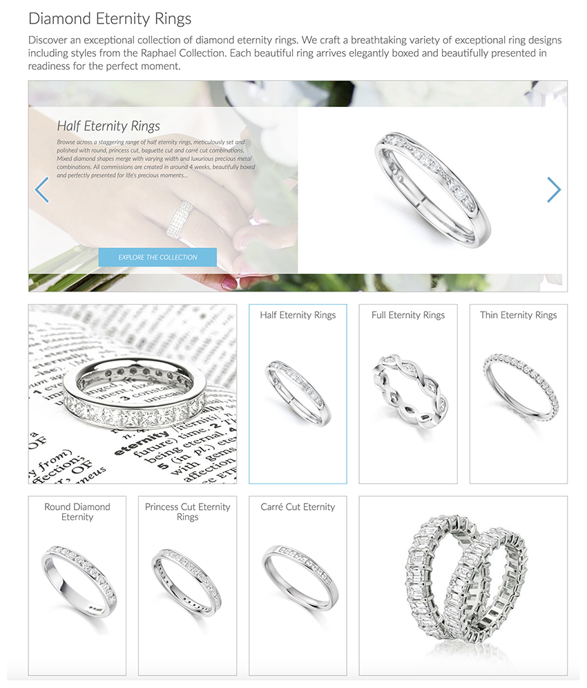 Buying a diamond eternity ring online