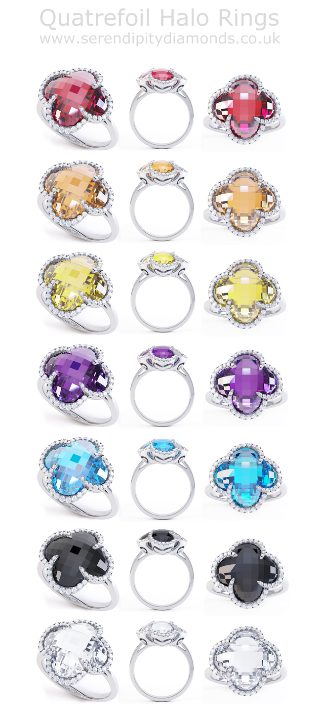 Quatrefoil-Halo-Rings