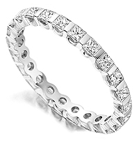 Bar set diamond eternity ring, fully set with 1 carat of diamonds