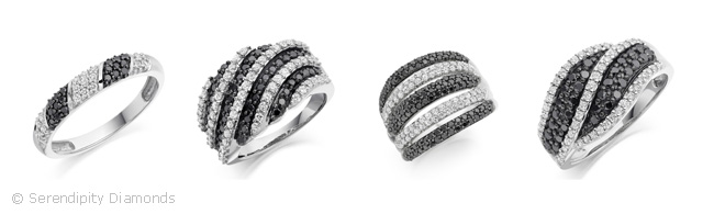 Black Diamond Wedding Rings Group