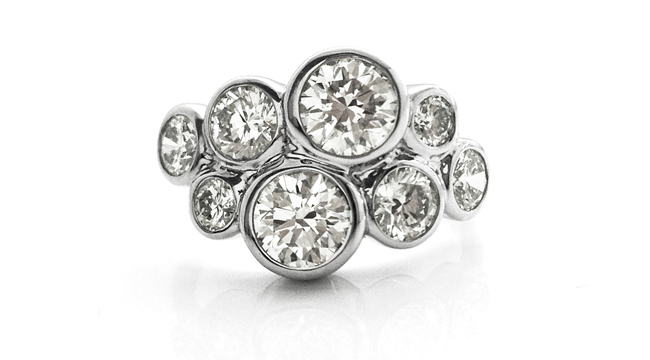 Ring Design Ideas trellis design with diamonds Modern Cluster Rings Re Inventing The Diamond Cluster