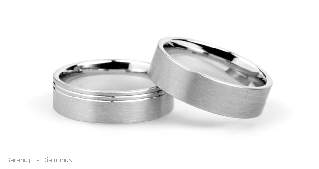 Brushed Wedding Rings