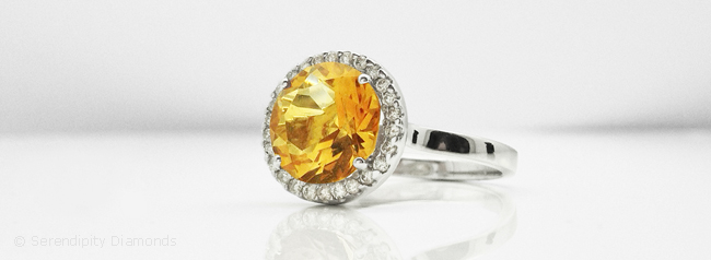 jewelry silver in natural sterling gold ring diamond ct rings citrine and