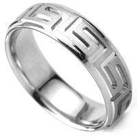 Wedding ring with Greek pattern